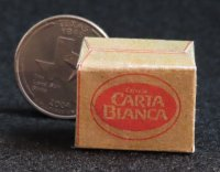 Carta Blanca Cerveza Beer Paper Box 1:12 Dollhouse Miniature
