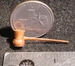 Smoking Pipe Wooden 1:12 Mexican Dollhouse Miniature #1085