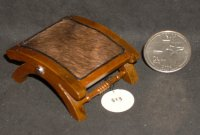 Cattle Baron Ottoman #1514 1:12 Dollhouse Miniature Furniture