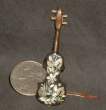 Violin WI-1704, Inlaid Mother-of-Pearl #1735 1:12 Instrument