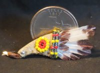 Bird Wing Ceremonial Fan #6148 1:12 Native American Miniature