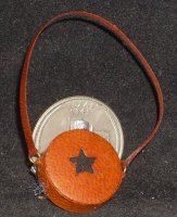 Canteen Texas Star Brown on Orange #6211 1:12 Miniature