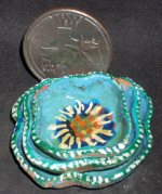 Stacking Plate Platter Set 0563 Blue Green Mexican Miniature