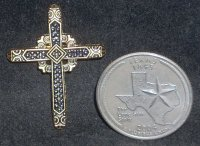 Cross - Wall Metal Medium 002 #CWMM002 1:12 Miniature Belief