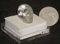 Carved Quartz Human Skull #5701 Mexican Aztec Worship Miniature
