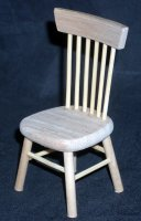 Chair Unfinished 1:12 Dollhouse Miniature Kitchen CLA08652