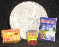 Texas Pantry #10 1:12 Dollhouse Miniature Kitchen Meal Food
