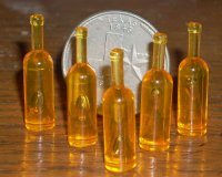 Blank Wine Bottle Amber 1:12 Miniature Alcohol Beverage