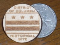 District of Columbia Historical House Plaque 1:12 Miniature