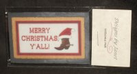 Welcome Mat Merry Christmas Boot Y'All 1:12 Miniature Porch