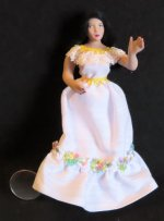 Doll - Woman Hispanic Mexican 1:12 Miniature #2690 Patsy Thomas