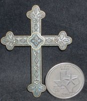 Cross - Wall Metal Large 002 #CWML002 1:12 Miniature Religion