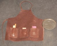 Apron Brown Leather ' New ' 1:12 Dollhouse Miniature Carpenter