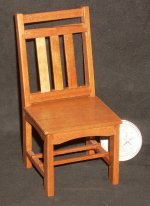 Pecan Mission Dining Chair 1:12 Miniature Retired Stain