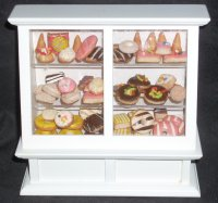 Bakery Display w/ Mexican Pan Dulce Pastries 1:12 Miniature 5098