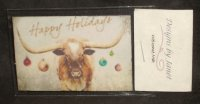 Welcome Mat Happy Holidays Longhorn Christmas 1:12 Miniature