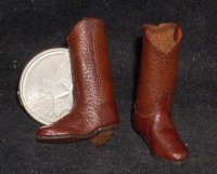 Boots Brown New 1:12 Western Dollhouse Miniature Cowboy Cowgirl