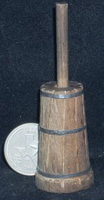 Weathered Butter Churn #WO1921 1:12 Dollhouse Miniature