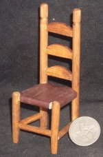 Mexican Hacienda Chair Brown Leather #WEA2025 1:12 Miniature