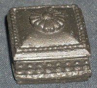 Box Jewelry or Game Bronze Colored 1:12 Dollhouse Miniature