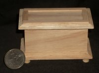 Blanket Chest Unfinished 1:12 Dollhouse Miniature #CLA08677