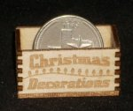Christmas Decorations Crate 1:12 Dollhouse Miniature Santa
