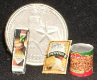Texas Pantry #11 1:12 Dollhouse Miniature Kitchen Meal Food