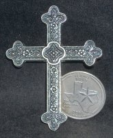 Cross - Wall Metal Large 003 #CWML003 1:12 Miniature Faith