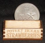 Poteet Texas Strawberries Produce Crate 1:12 Miniature Fruit