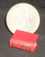 Book Gold Embossed Red #P1006(1)R Dollhouse Miniature Books