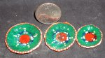 Stacking Plate Platter Set 1334 Green Orange Mexican Miniature