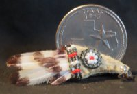 Bird Wing Ceremonial Fan #3808 1:12 Native American Miniature