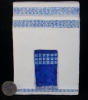 Blue Talavera Tile Fireplace 1:12 Dollhouse Miniature Mexican