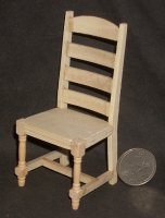 Chair Ladder Back Unfinished 1:12 Miniature #CLA08677