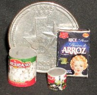 Texas Pantry #02 1:12 Dollhouse Miniature Kitchen Food Meal