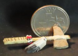 Tomahawk Battle Club Ax #3663 1:12 Miniature Native American