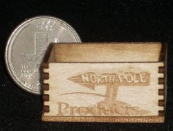 North Pole Products Crate 1:12 Miniature Christmas Presents