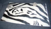 Cowhide Carpet Rug #9803 1:12 Faux Zebra Black & White