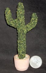 Topiary Cactus Green 1:12 Miniature Cowboy Western Texas #8866