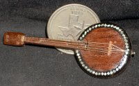 Banjo WI-1703 Inlaid Mother-of-Pearl 1:12 Miniature Instrument