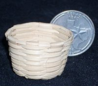 Basket Woven Palm Bushel Basket #B107 1:12 Miniature