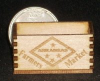 Arkansas Farmers Market Crate 1:12 Dollhouse Miniature Market