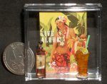 Luau Poster Alcohol Bottle & Drink 1:12 Miniature Hawaii 4610