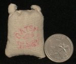 Dry Goods Sack Oats Small #WO1905(1) 1:12 Miniature