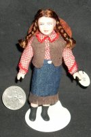 Doll - Girl Child Cowgirl w/ Jean Skirt Western #4009 Cindy's