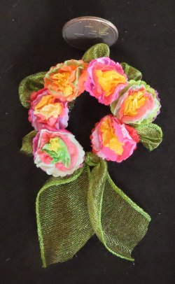 Fiesta Wreath San Antonio Mexican Style 1:12 Miniature #0001