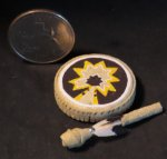 Dance Hand Drum #0331 1:12 Miniature Native American Indian