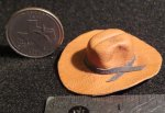 Cowboy / Cowgirl Hat Brown New 1:12 Miniature L504 - 1773