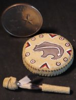 Dance Hand Drum #6424 1:12 Miniature Native American Indian