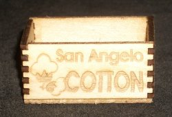 San Angelo Cotton Crate 1:12 Miniature Farm Field Texas